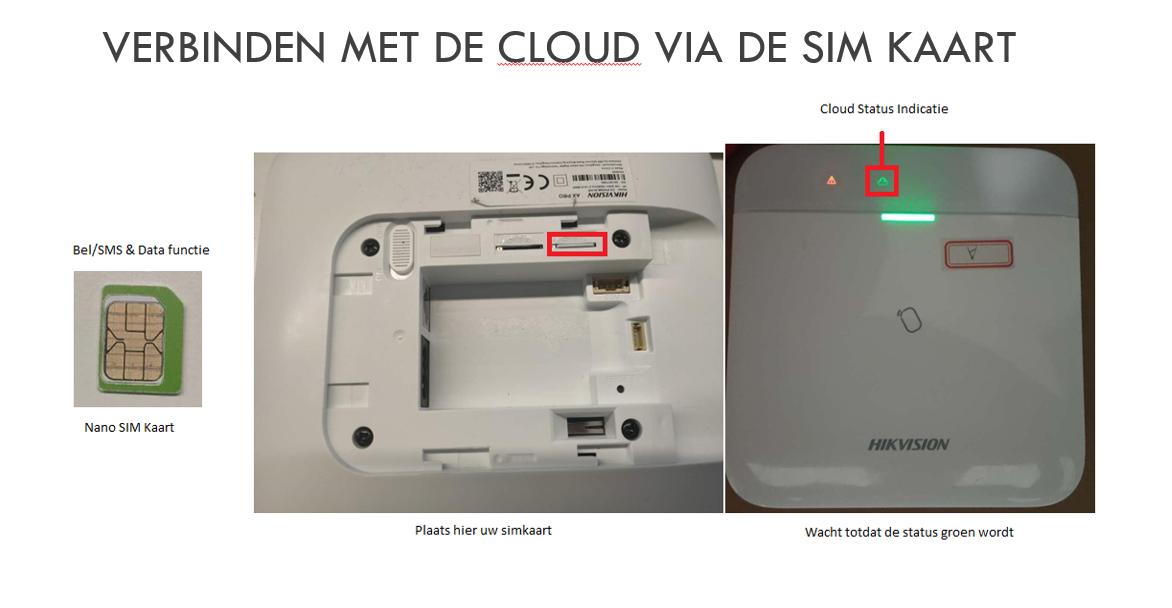 AXHUB via SIM verbinden met de Hik-Connect cloud