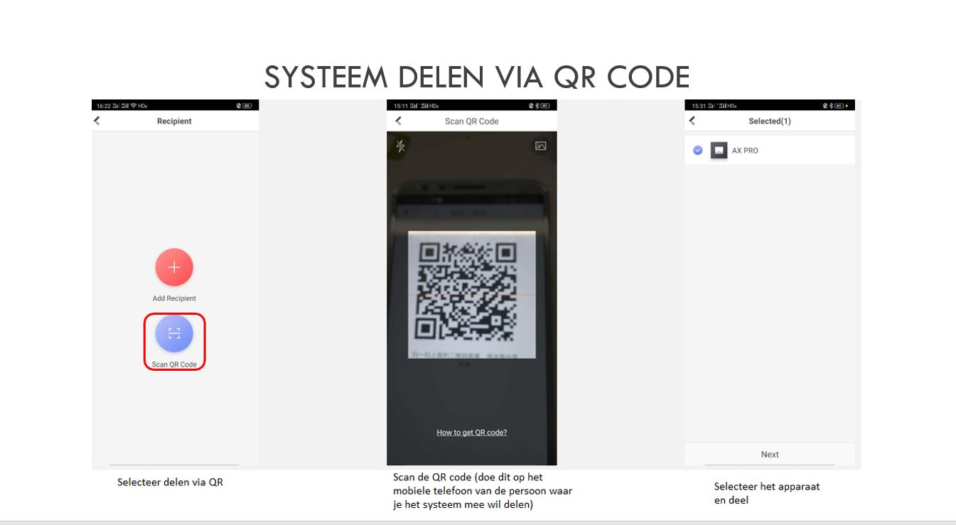 Systeem delen via QR code