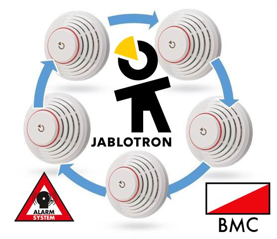 Met de Jablotron JA-111ST-A rookmelder incl. sirene wordt een Jablotron alarmcentrale ook een brandmeldcentrale.