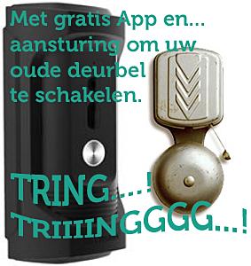 IP duurbel met gratis App, deurslot of deurbelaansturing.