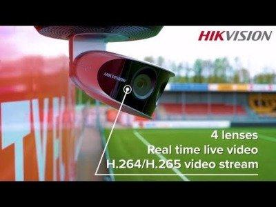 Met Hikvision beveiligingscamera's live genieten van amateurvoetbal.