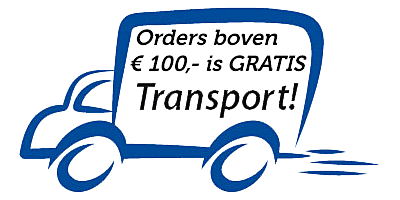 Vanaf nu sturen wij orders binnen Nederland en België vanaf € 100,- gratis op!